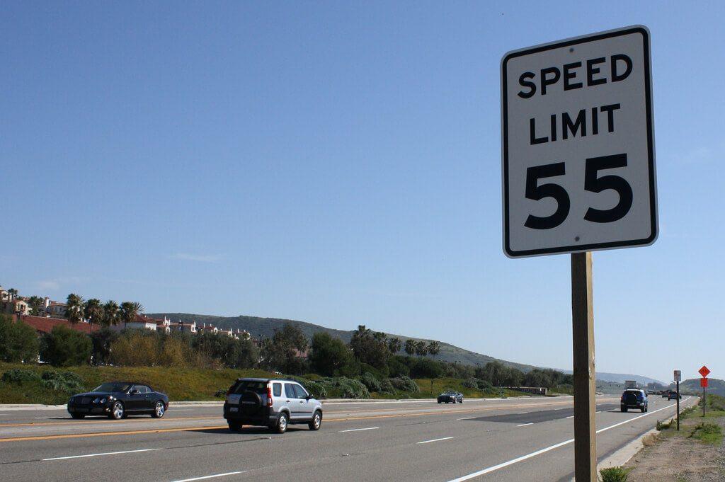 Speed Limit Sign 55