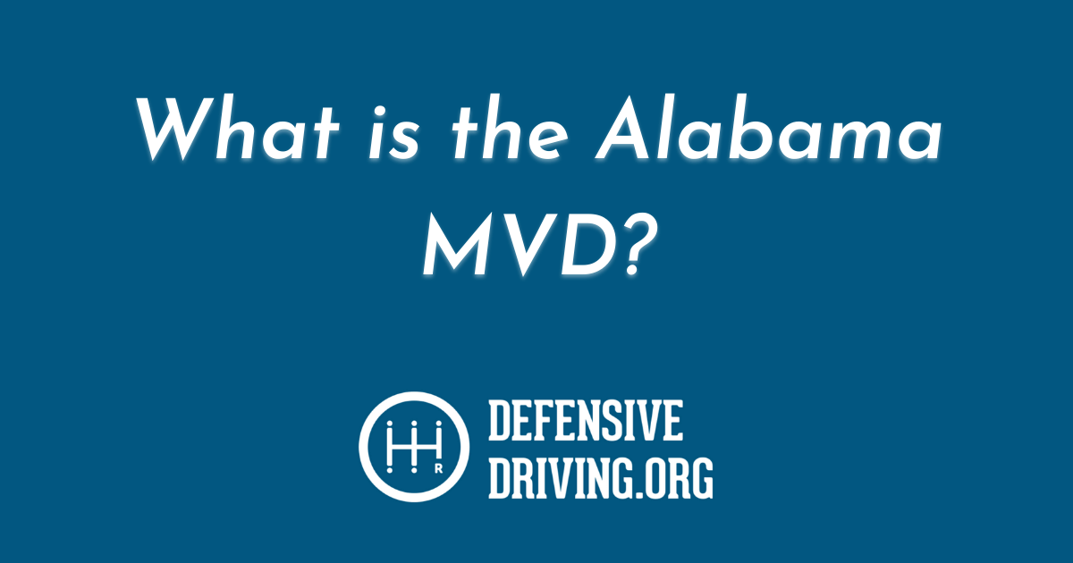 What does Alabama MVD stand for?